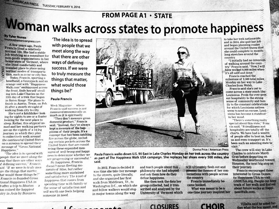 The Happiness Walk Makes Local Headlines