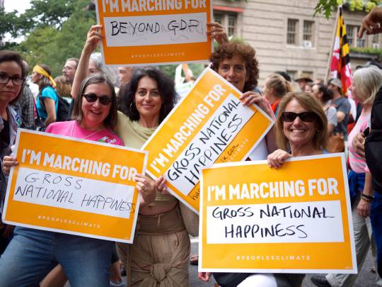 GNH Supports The People's Climate March: A Look Inside How It Works When You Are Serious About Happiness